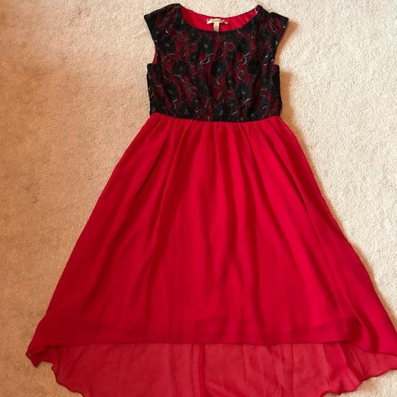 Jcpenney Dresses Juniors Black And Red Highlow Dress Poshmark